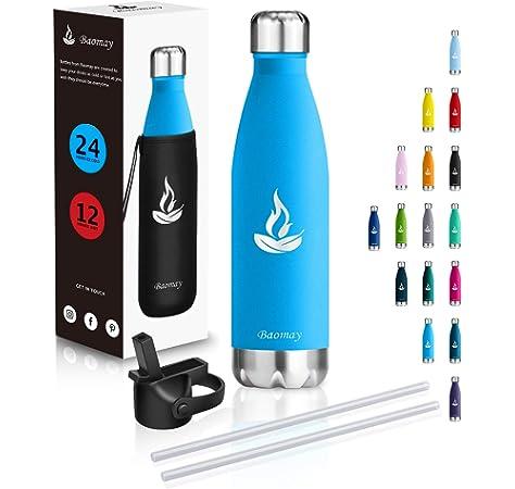 Prueba de Fugas Acero Inoxidable y Reutilizable Botella De Agua De Chillys Verde Pastel 500ml Libre de transpiraci/ón