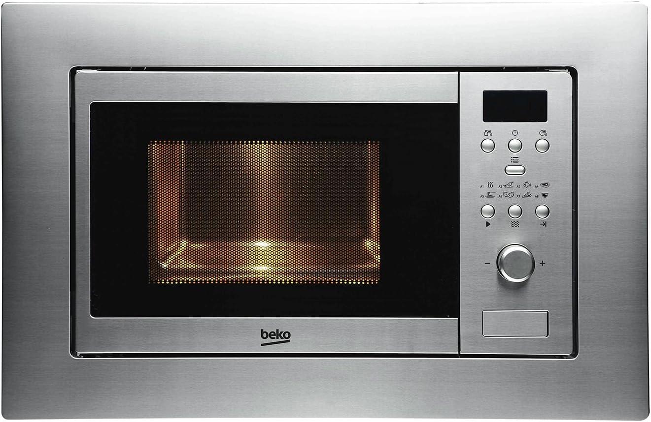Beko MOB17131X - Microondas (empotrable, 59,5 cm, encendido rápido, acero inoxidable)