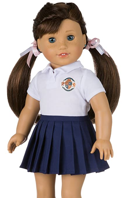 01b14d230b CUSTOMIZABLE School Uniform for American Girl Doll | YOUR OWN SCHOOL LOGO |  DIY Accessories and