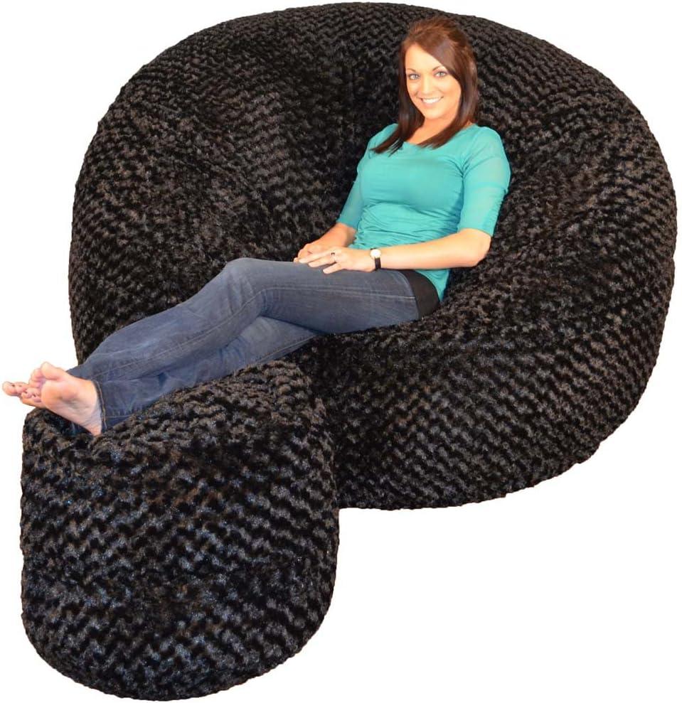 Comfy Sacks 6 ft Memory Foam Bean Bag Chair, Midnight Fox