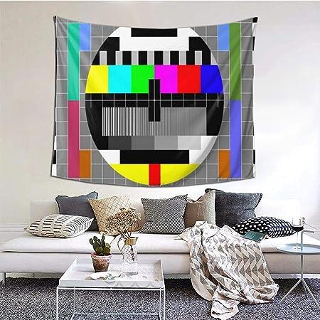 Lasinsu Tapisserie Murale Decoration Video Pal Circle Glitch Tv Test Rainbow Clear Transmission Oriental Multi Color Abstract Patternt Murale Faite Decor A La Maison Art Tapisseries Pour Chambre Amazon Fr Cuisine Maison