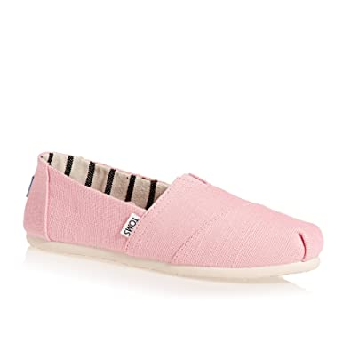 f999b38bc TOMS Womens Womens Classics Heritage Canvas Espadrille Pumps in Pink - UK 3
