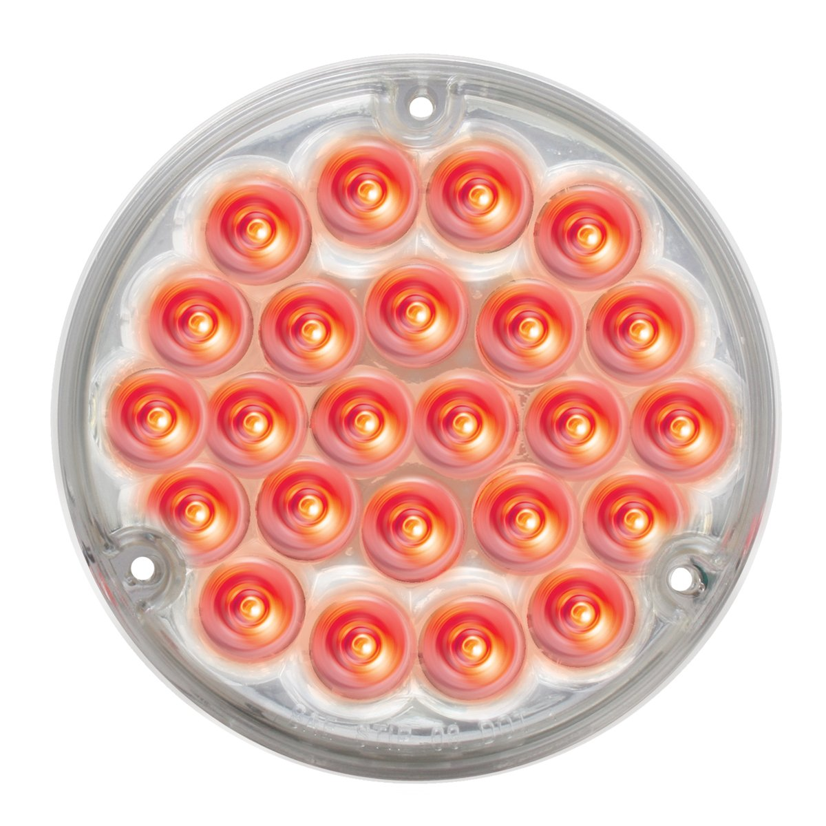 Grand General 87588BP Pearl Red 4'' 24 LED Sealed Light with Clear Lens and Pigtail (#1157) by GG Grand General