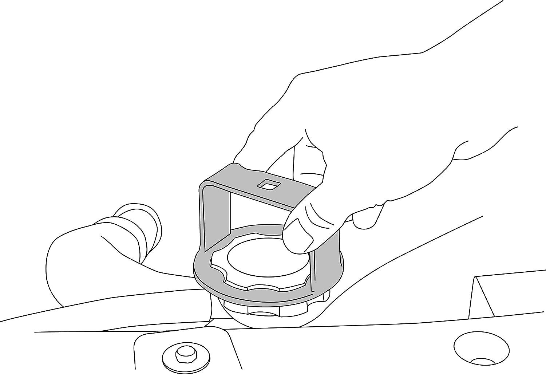 Lisle 24700 Radiator Cap Wrench for GM