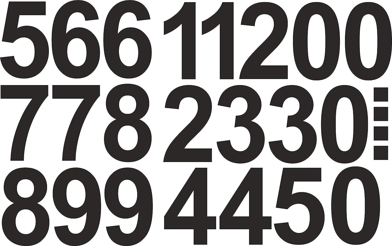 in verde neon numeri e numeri autoadesivi 0 Numeri adesivi 4 cm di altezza Ideali per esterni perch/é impermeabili e resistenti alle intemperie. 101 numeri adesivi 9