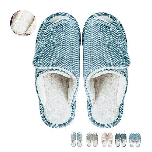 e4ab17f4d441 Women Slip on Indoor Home Slippers Open Toe Comfort Slippers Memory Foam  House Slippers Shoes Light
