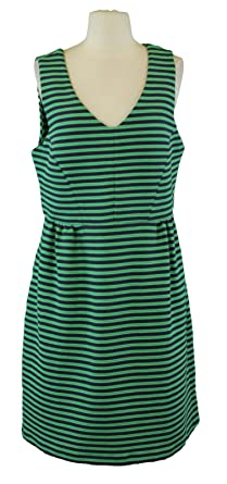 Boden Women S Striped Vintage Ponte Dress Green Navy At Amazon