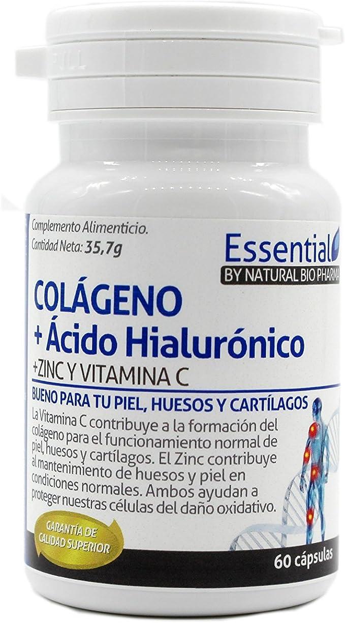 COLAGENO CON ACIDO HIALURONICO, VITAMINA CY ZINC - suplemento alimenticio recomendado para mantener la salud de tus huesos, articulaciones y piel. ...