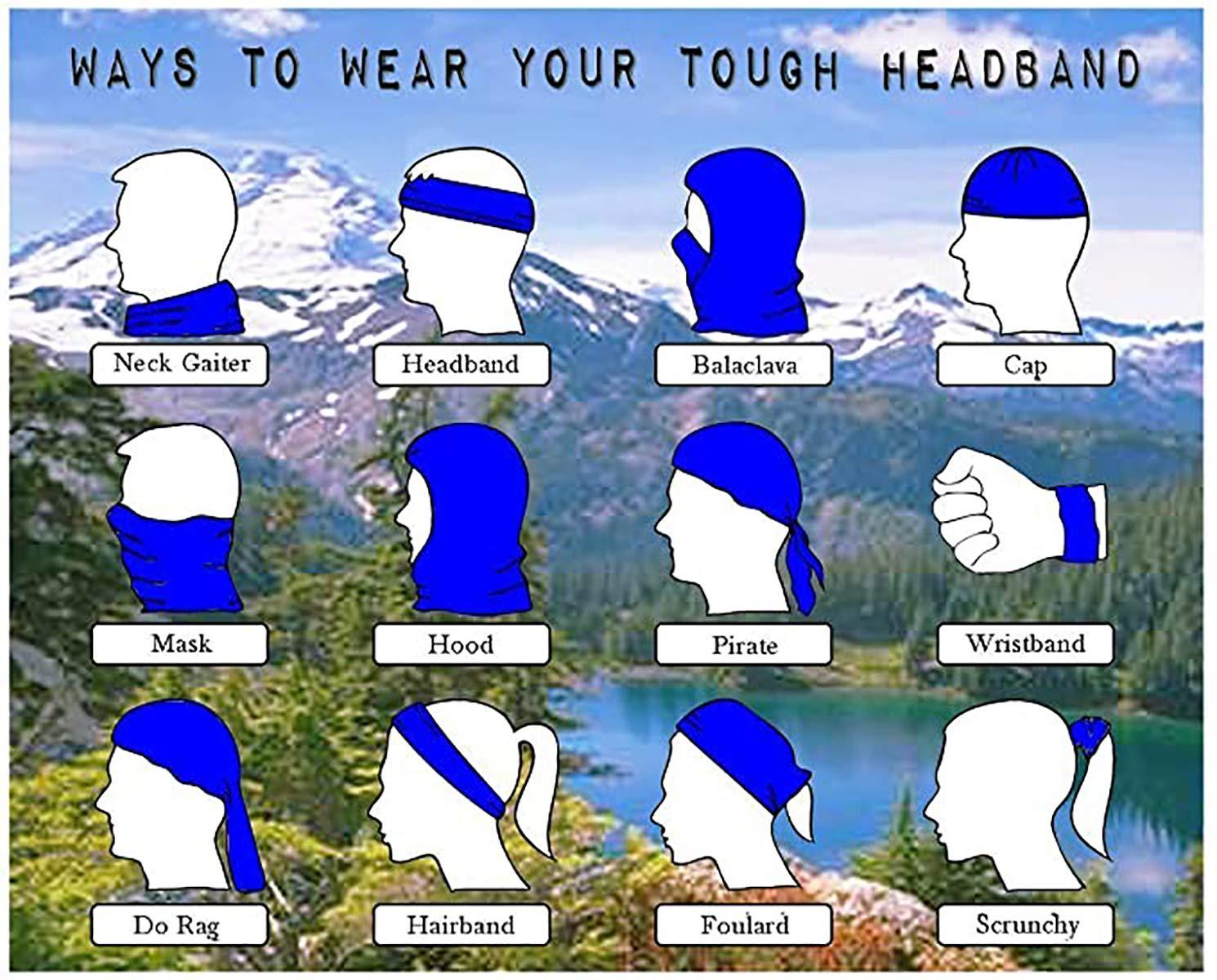 Headwear Headband Surreal Art Eagle Head Scarf Wrap Sweatband Sport Headscarves For Men Women