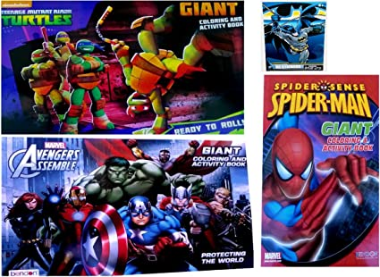 Amazon.com: Ninja Turtles, Vengadores & Spider-Man gigante ...