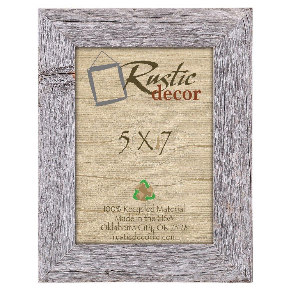 aa8dddfc3b5 Amazon.com - Rustic Decor 5x7 Picture Frames - Barnwood Reclaimed Wood  Standard Photo Frame - Single Frames