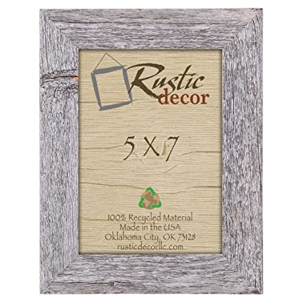 Charmant Rustic Decor 5x7 Picture Frames   Barnwood Reclaimed Wood Standard Photo  Frame