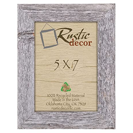 5x7 picture frames barnwood reclaimed wood standard photo frame - Wood Frames