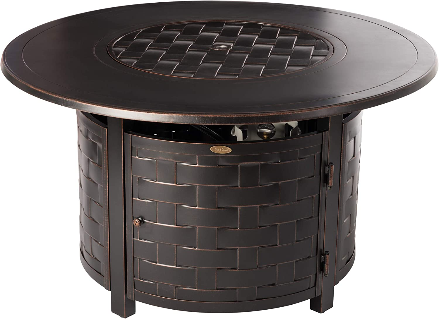 Fire Sense 62208 Perissa Fire Pit Table, Bronze