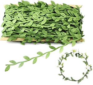 OFNMY Artificial Vines 132 Ft/40M Fake Hanging Plants Leaf Garland Silk Ivy Artificial Balloon Greenery Home Wall Garden Wedding Party Wreaths Decor