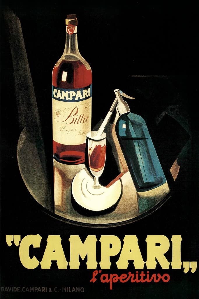 Marcello Nizzoli Campari Laperitivo Alcohol Liqueur Vintage Advertising Cool Wall Decor Art Print Poster 12x18