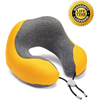 Phixnozar Memory Foam Travel Pillow –Neck Pillow, Ideal for Airplane Travel – Comfortable and Lightweight – Improved Support Design – Machine Washable Cover – Must-Have Travel Accessories