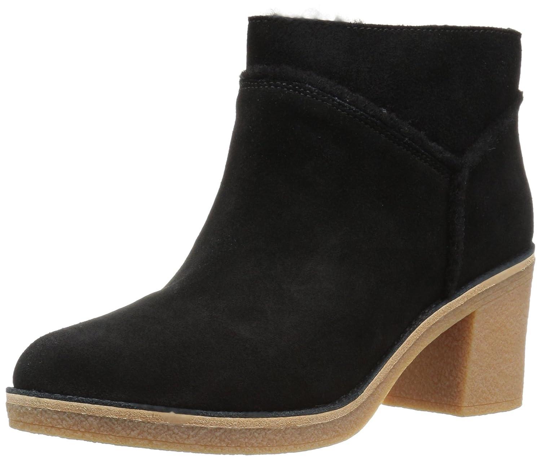 Ugg Women Boot s Kasen Women s Noir Leather Heeled Ankle 15835 Boot In Chestnut Suede Noir 83ffba1 - digitalweb.space