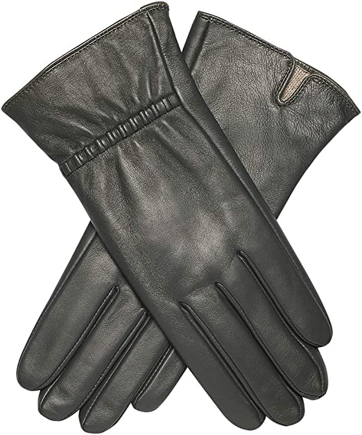 Ladies 100/% Genuine Leather Gloves With Cuff Button.