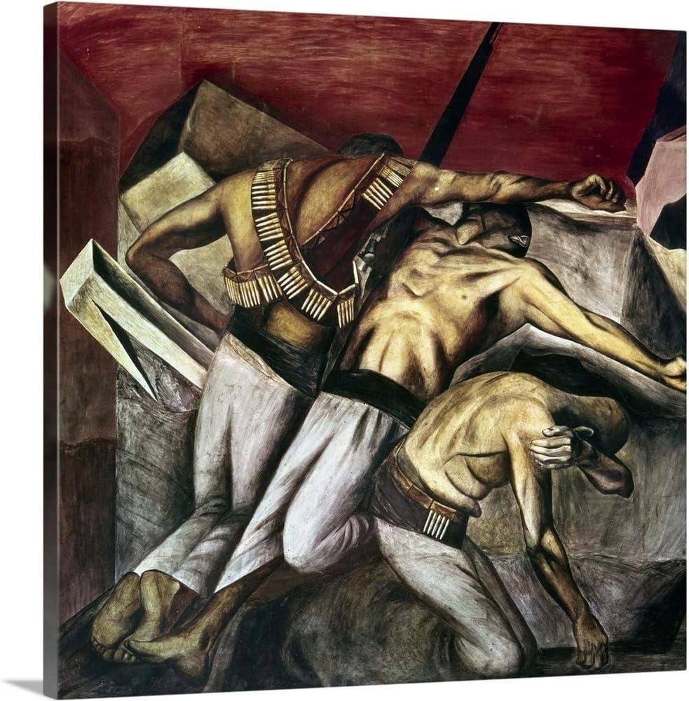 "GREATBIGCANVAS Mexican Revolution Canvas Wall Art Print, Home Decor Artwork, 35""x35""x1.5"""