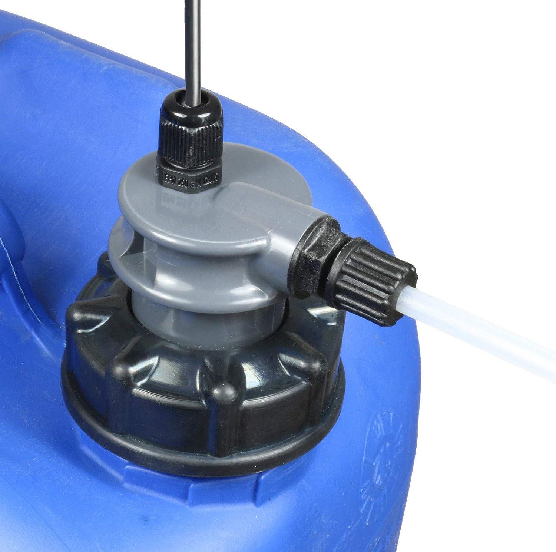 3//8 Gewindeanschluss mit 5 Adaptern Pool Chlor Redox im Lieferumfang GT Set PVC Sauglanze//Sauggarnitur mit Niveauschalter f/ür 10-25 Liter Kanister mit Zwei EPDM Deckeln DIN51//DIN61