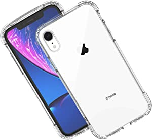 Syncwire Case for iPhone XR, Anti-Scratch Shock Absorption Protective Bumper Cover Case for iPhone XR (4 Corners Air Cushion Protection, Soft TPU Material) – Clear