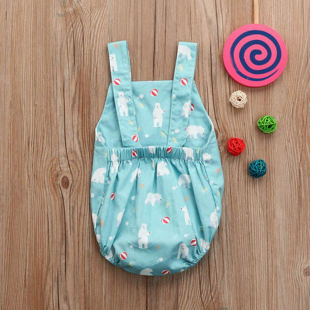 Summer Newborn Kids Clothing Baby Boys Sleeveless Romper Jumpsuit Bodysuit Tops Outfits Clothes Blue by BOOMJIU (Image #3)