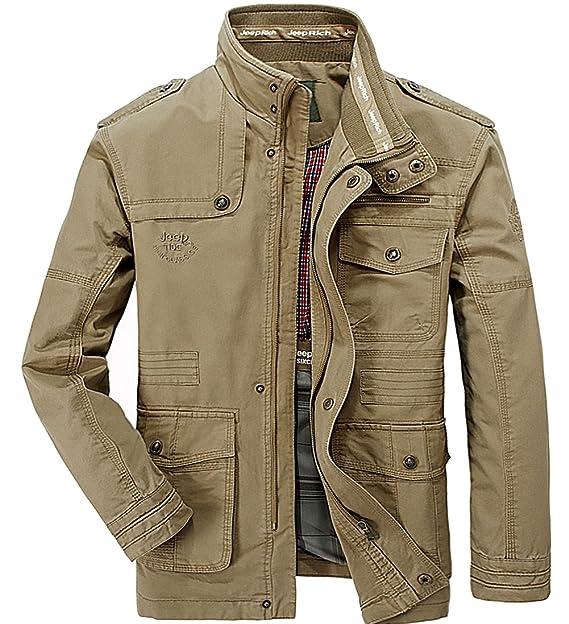YYZYY Hombre Otoño Invierno Algodón Militar Ejército Chaquetas Abrigo al Aire Libre Rompevientos Bombardero Caza Mens Jacket: Amazon.es: Ropa y accesorios