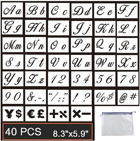 STENCIL 3 Inch Decorative Alphabet Upper Case Stencil Set FREE US SHIPPING
