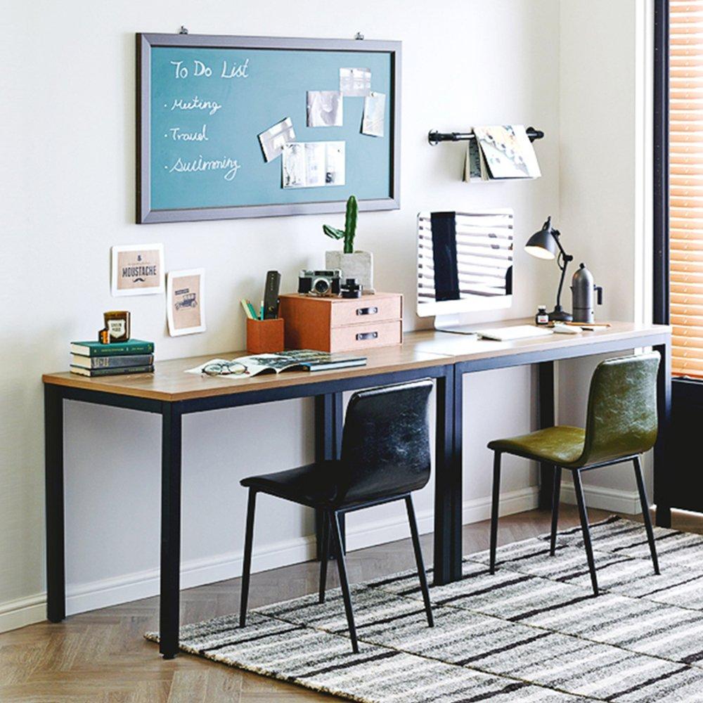 Need Escritorios 138x55cm Mesa de Ordenador Escritorio de Oficina Mesa de Estudio Puesto de trabajo Mesa de Conferencias Talla grande Teca color /& Blanco pata AC3BW-140-N