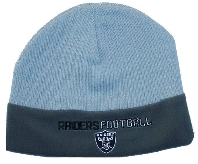 59a6c876 Amazon.com : Oakland Raiders All Gray Youth Boys 8 - 20 Knit Beanie ...