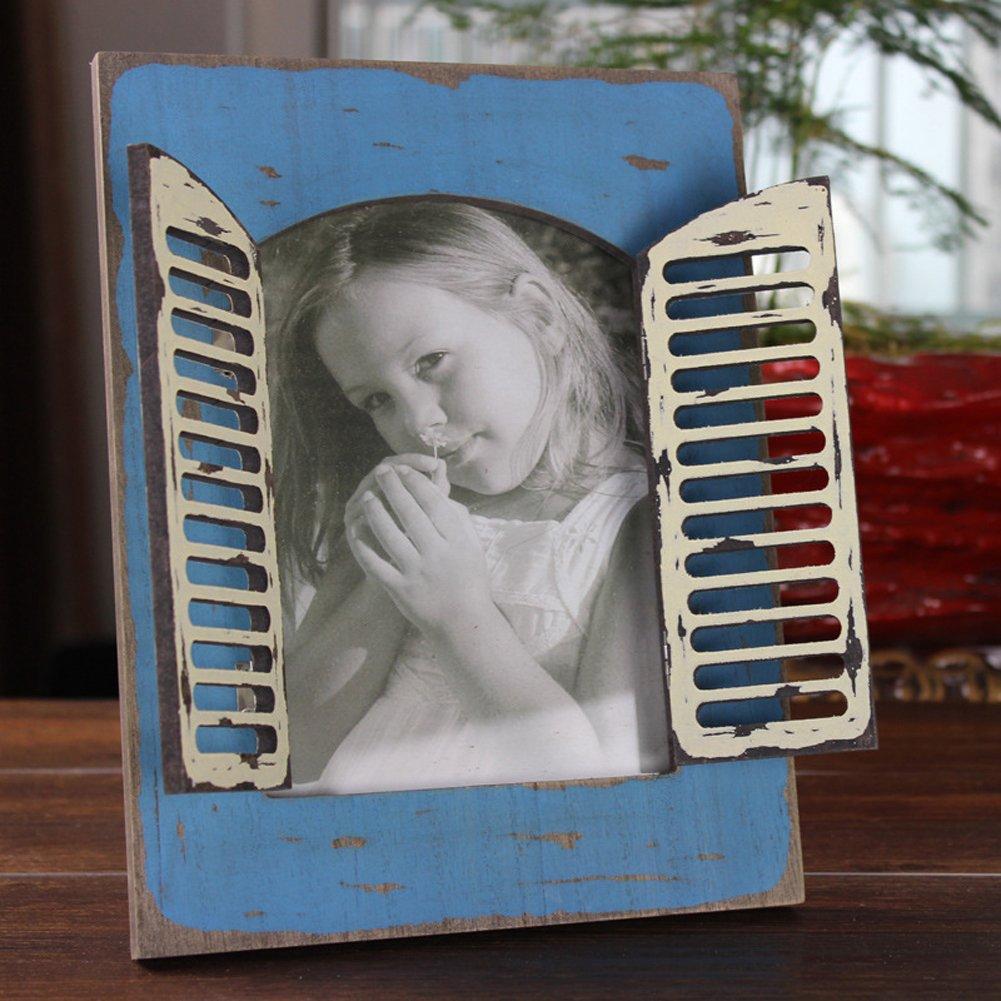 ChezMax Elegant Wall Hanger Home Decor Tabletop Living Room Portrait Frame Rectangle Open Window 5''x7'' Photo Frame