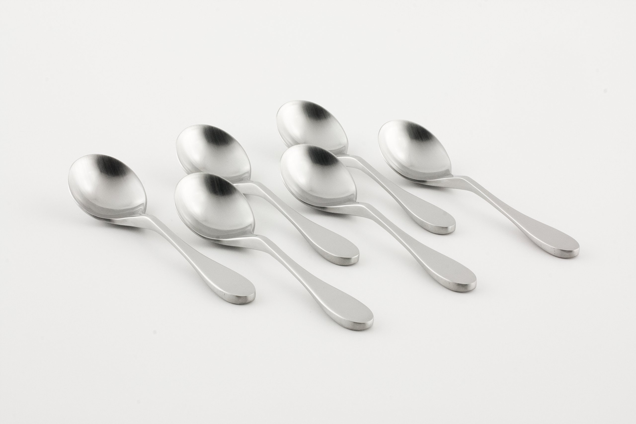 Knork 153 Original Bouillon Stainless Steel Soup, Specialty Spoons, matte by Knork