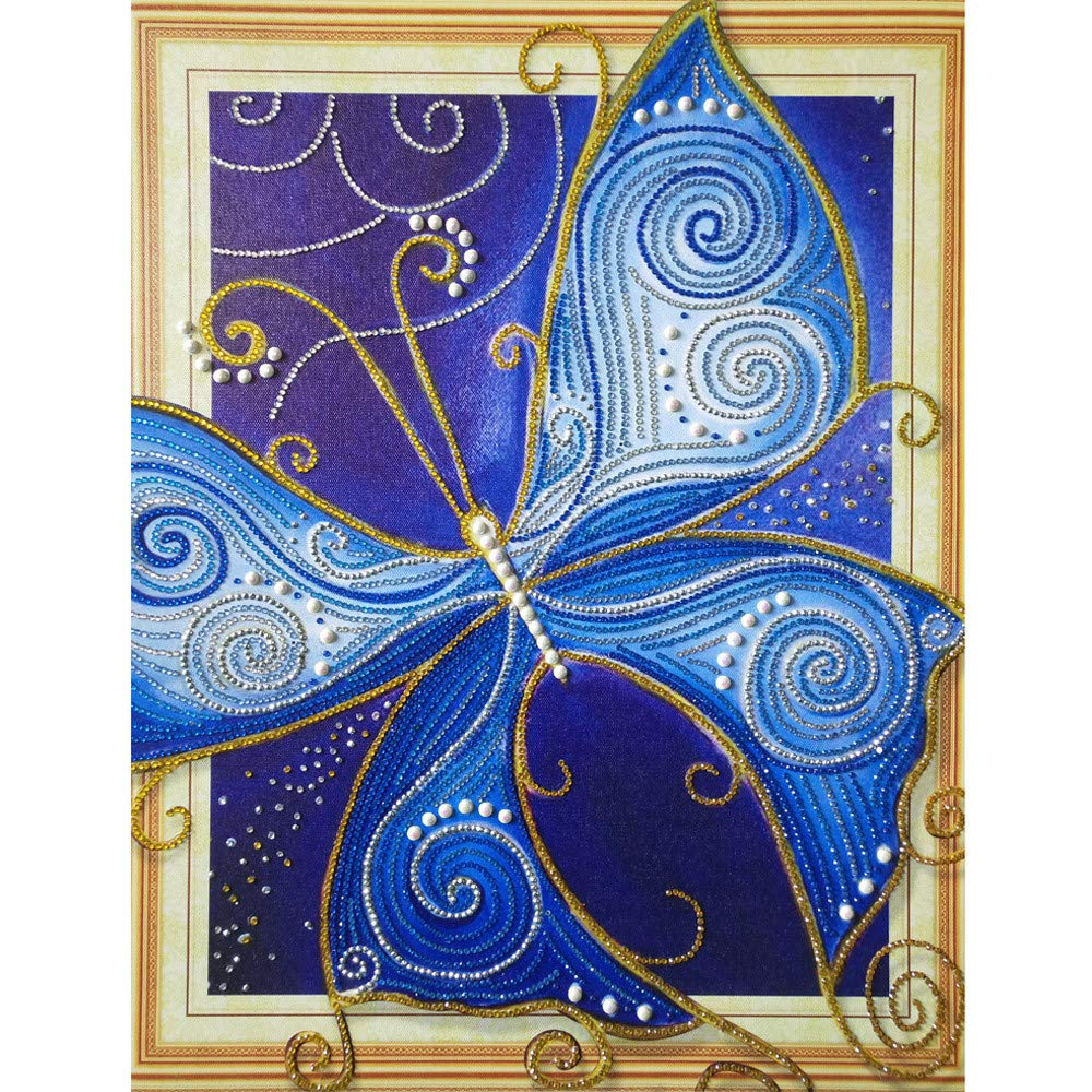 QHB Diamond Painting 5D Rhinestone Pasted Embroidery Beautiful Scenery Painting Cross Stitch Home Decor (A)