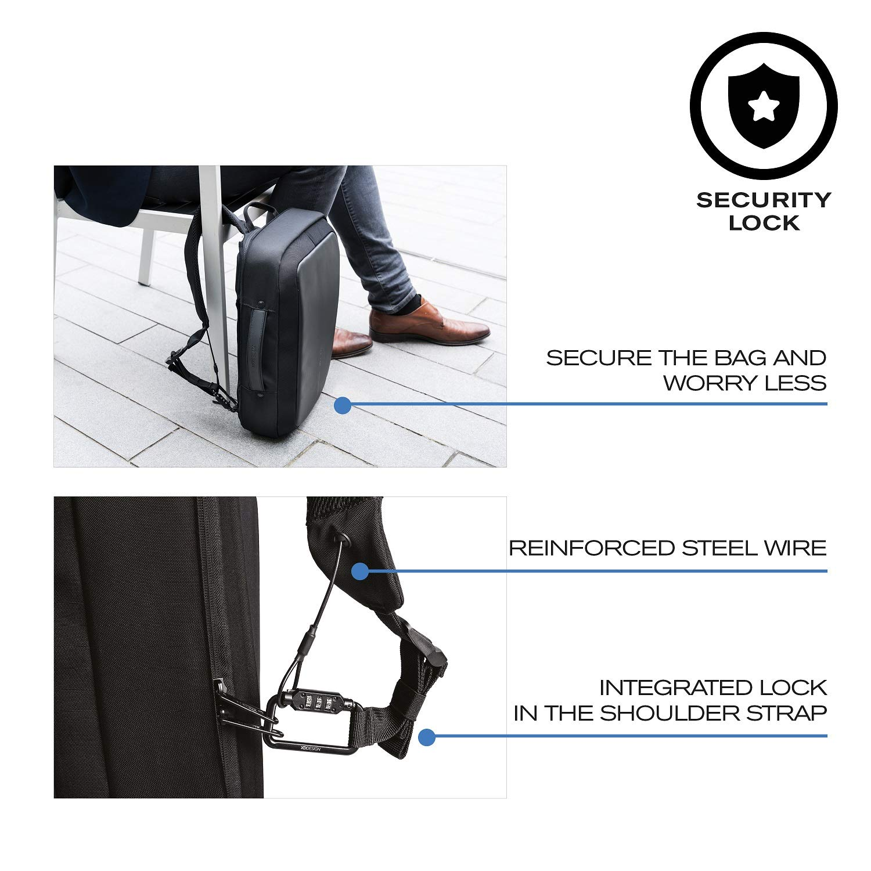 XD Design Bobby Bizz Mochila y Maletín Anti-Robo Portátil con USB (Bolsa Negro): Amazon.es: Equipaje