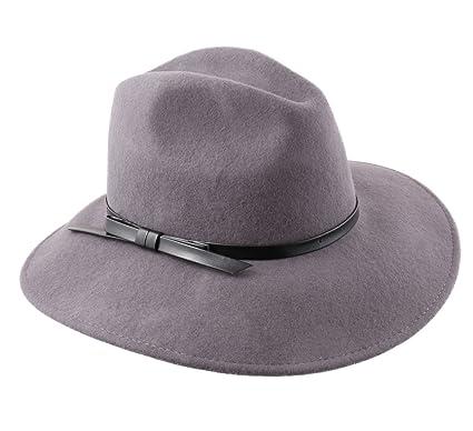 Modissima Women s Lady Traveller Wool Felt Floppy Hat Size 58 cm Gray 988762653