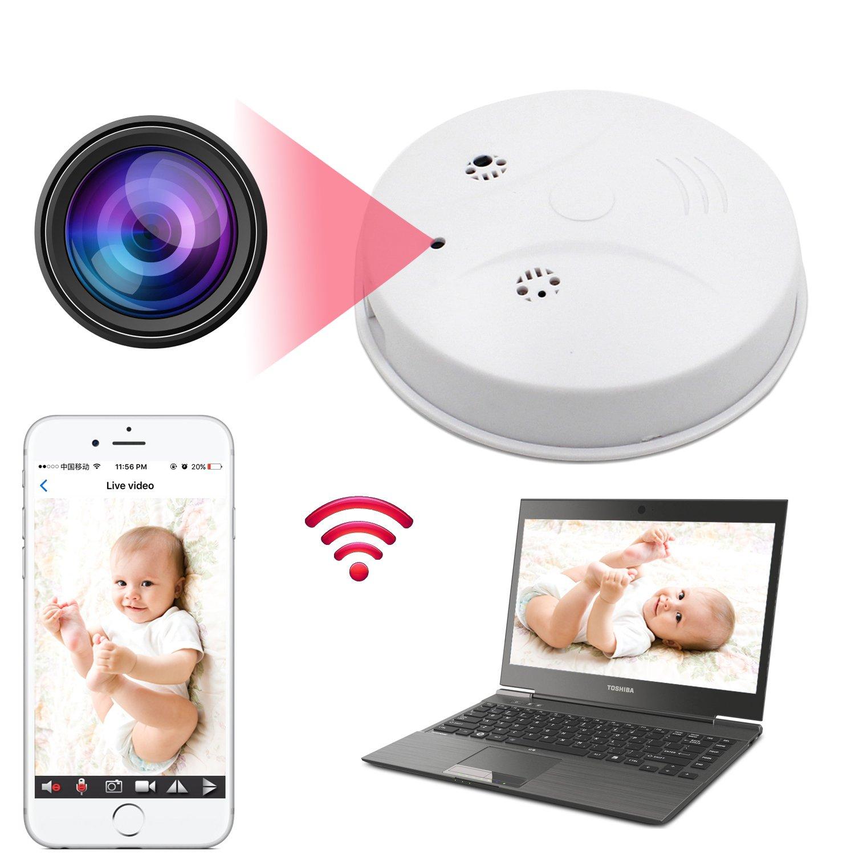 Hidden Wifi Camera HD 1080P Webcam Round Remote View Spy Camera DVR Cameras Video Baby Monitor Nanny Cam Motion Detector Camera Home Surveillance Camera Wireless