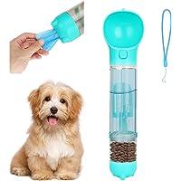 Brynnl - Botella de agua para pasear, multifuncional y portátil, botella de agua para perro, gato, con contenedor de…