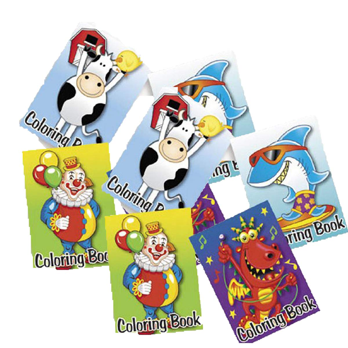 Amazon.com: 72-pack of Kid's Coloring Books ~ Great Party Favors! Assorted  Designs: Toys & Games
