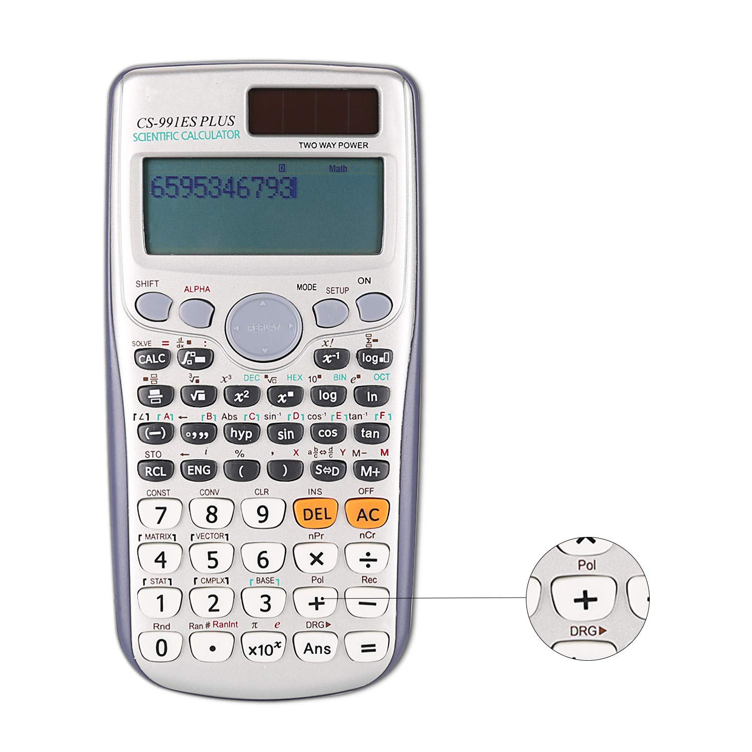 14-Digit Electronic Financial Calculator, Large LCD Display Scientific Desk Calculators for Office Home Business ASLD
