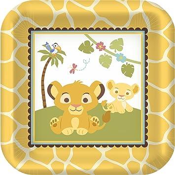 Baby Lion King u0027Sweet Circle of Lifeu0027 Small Paper Plates ...  sc 1 st  Amazon.com & Amazon.com: Baby Lion King u0027Sweet Circle of Lifeu0027 Small Paper Plates ...