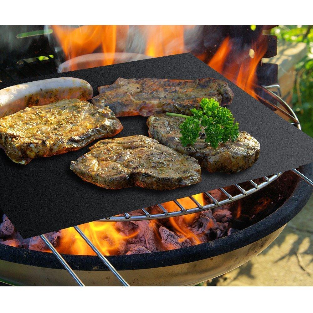 Conjunto de 2 de la más alta calidad BBQ Grill & Baking Mats [según lo visto en la TV] | 100% antiadherente | reutilizable por años | Hecho en centro ...