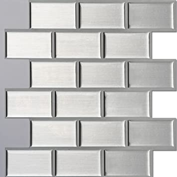 Amazoncom Ecoart Peel And Stick Self Adhesive Wall Tile For