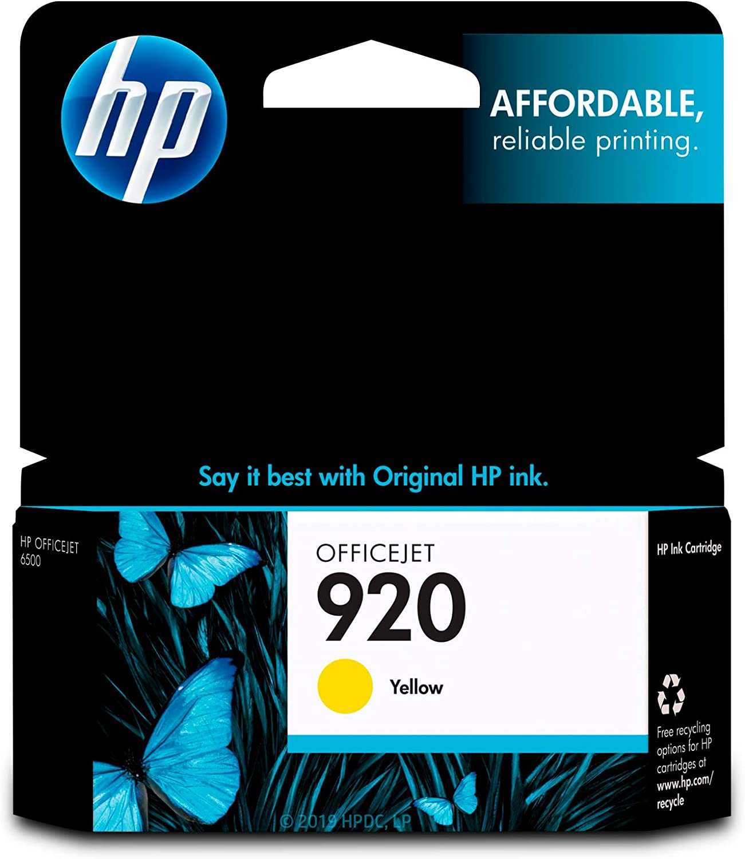 HP 920 | Ink Cartridge | Yellow | CH636AN
