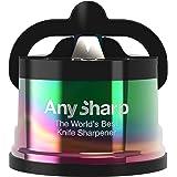 Anysharp Pro affilacoltelli metallo con ventosa Oil Slick