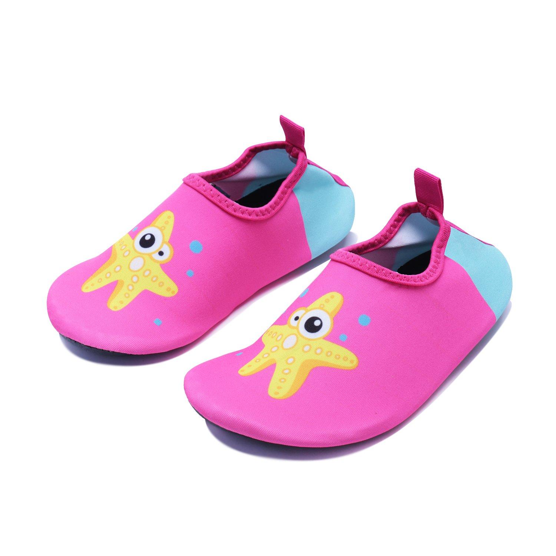 33fb29c0e27b7 WXDZ Boys Girls Water Shoes Swim Shoes Quick Drying Barefoot Aqua Socks For Kids  Beach Pool