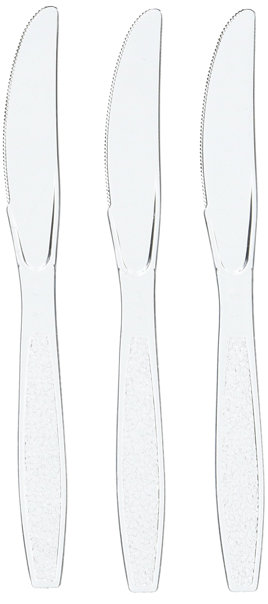 Blue Sky 100 Count Medium Weight Plastic Knives, 6-Inch, Clear by Blue Sky