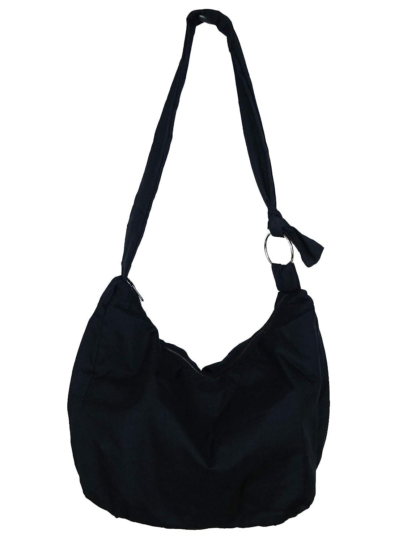 Sac Bandouli/ère Ethnique Sac /à Main Coton Besace boh/ème Boho Noir Homme Femme fourre Tout Shoulder Bag Black Coton Hauteur R/églable