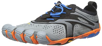 separation shoes 0805b e67c4 Vibram Fivefingers Bikila Evo, Men s Running Shoes Running Shoes, Grey Blue  Orange