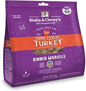 Stella & Chewy's Freeze-Dried Raw Tummy Ticklin' Turkey Dinner Morsels Cat Food, 18 oz. Bag